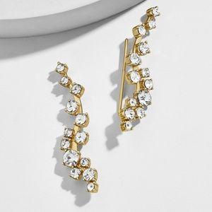 NWT Farah Ear Crawlers Gold Plated & Glass Stone